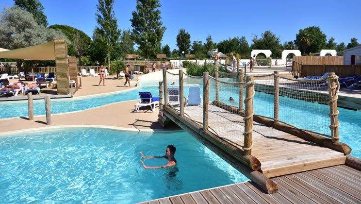 Le Mediterranee Plage Camping Village Holiday Lodges in Languedoc Roussillon