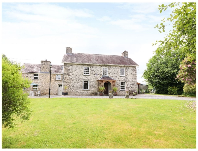 Dolau Farmhouse a british holiday cottage for 14 in ,